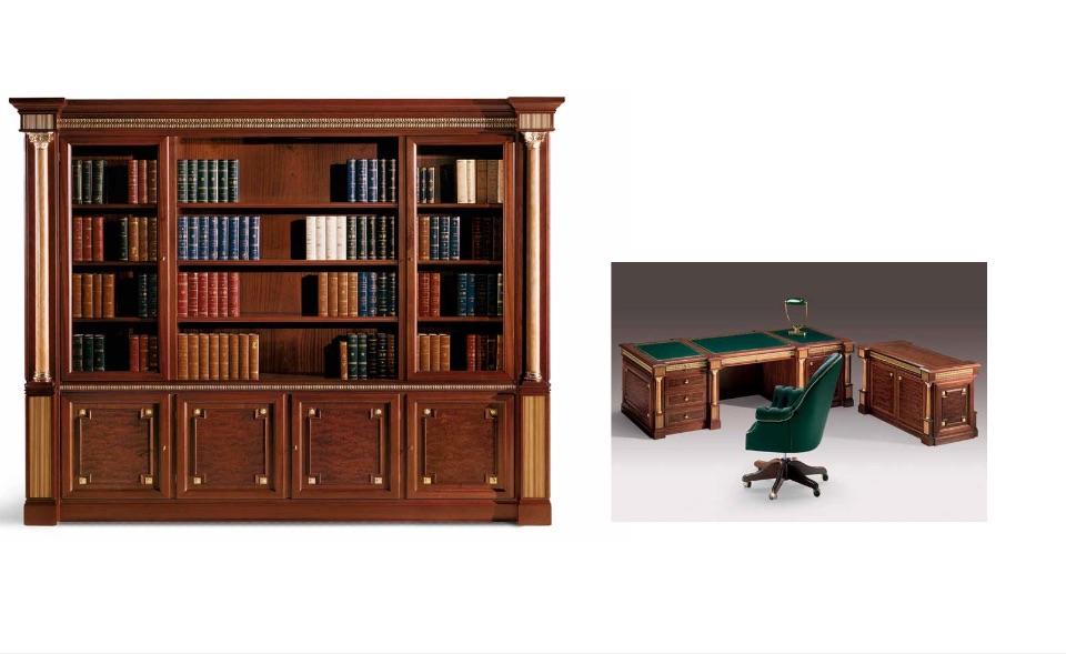 Библиотека, Тумбы – Кабинет премиум класса Tudor Elledue