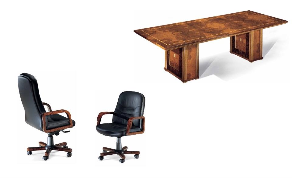 Кресло руководителя, посетителей Dea, брифинг стол – Кабинет премиум класса Horus Elledue