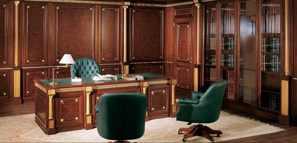 Буазери / Стеновые панели – кабинет премиум класса Tudor Elledue