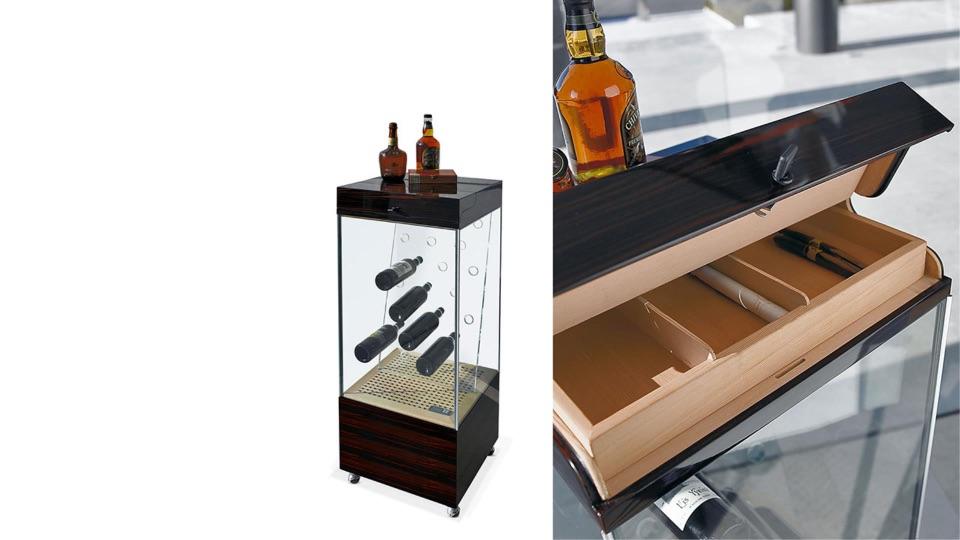 Мобильный винный шкаф и хранилище сигар Reflex