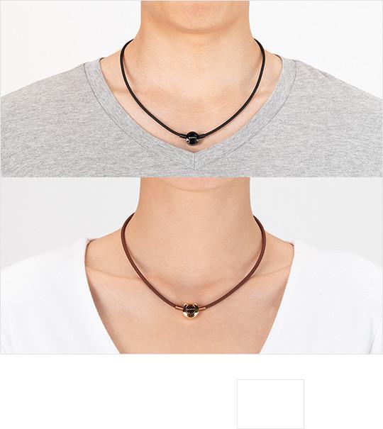 картинка Ожерелье Phiten METAX PUSH TYPE черное X100 от магазина Phiten
