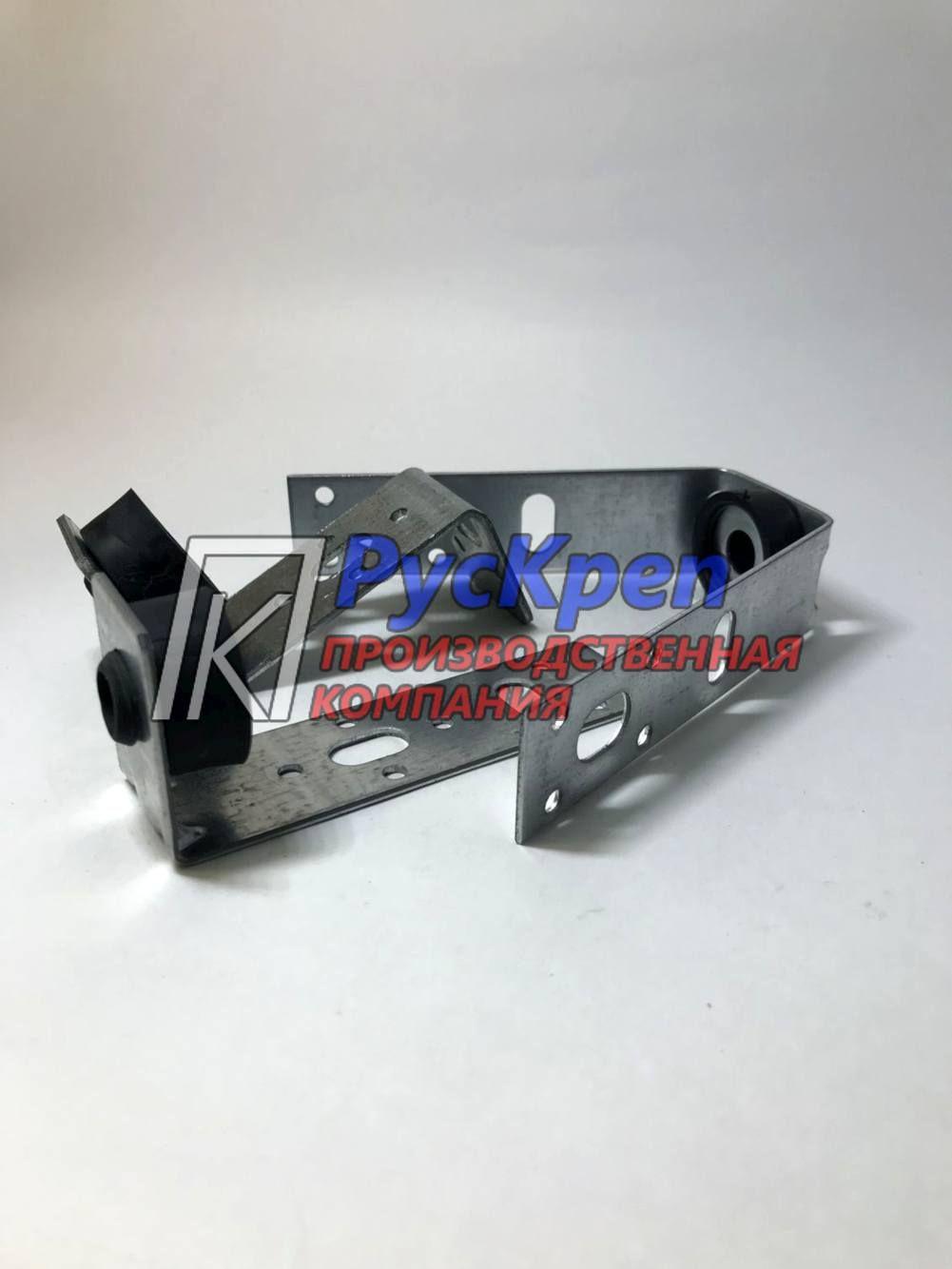 Кронштейн сложный L, Z, V- образный крепёж м8 \м10 с виброгасителем | Производство трубных хомутов