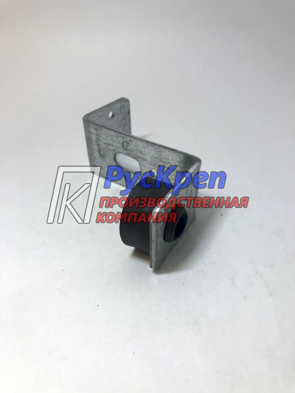 Кронштейн сложный L- образный крепёж м8 \м10 с виброгасителем | Производство трубных хомутов