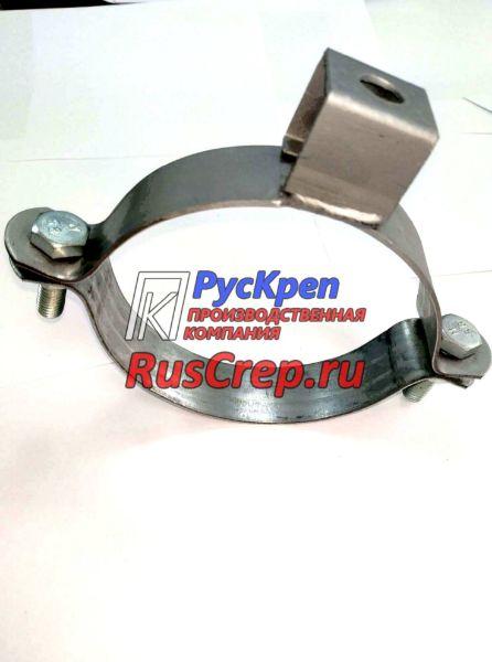 Хомут высокой нагрузки с отверстием в П-обр. подвесе без резинового уплотнителя EPDM 16