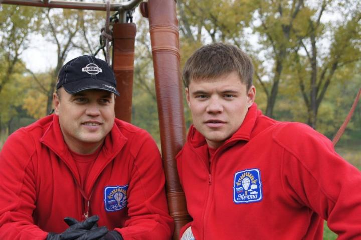 Экипаж воздушного шара с корзиной