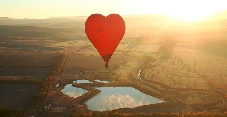 Стоимость полёта на Воздушном шаре в форме сердца Символ любви