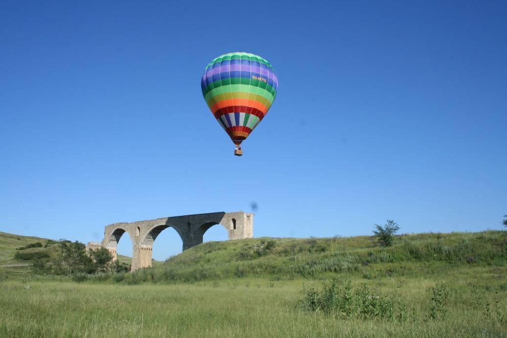 Воздушный шар в Ставрополе немецкий мост