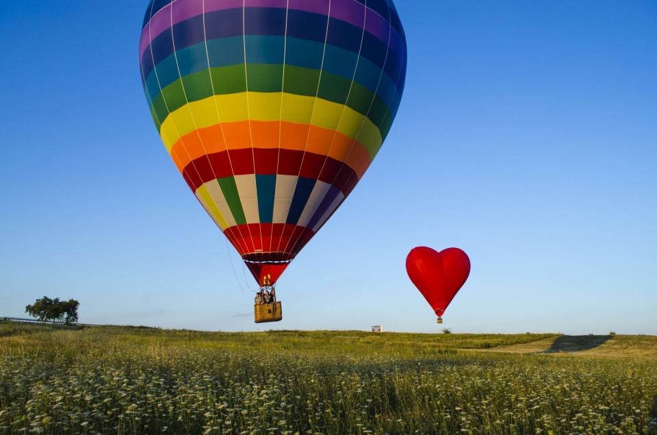 Полёты на воздушном шаре с корзиной