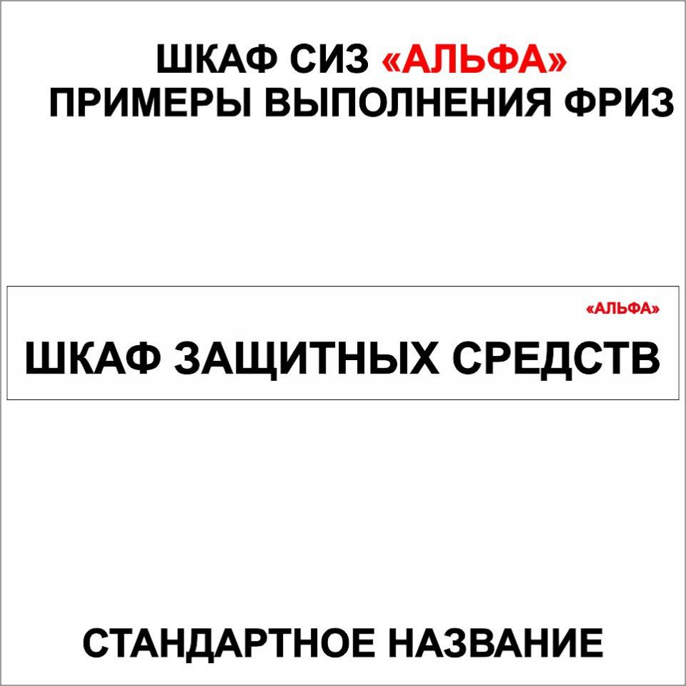 СТАНДАРТ Шкаф защитных средств АЛЬФА