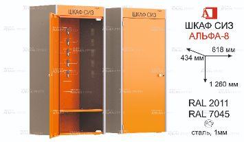 ШСИЗ-АЛЬФА-08М -434х612х1260 -RAL2011x7045