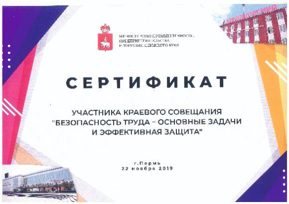 ГК АЛЬФА ГРУПП стала участником краевого совещания по безопасности труда