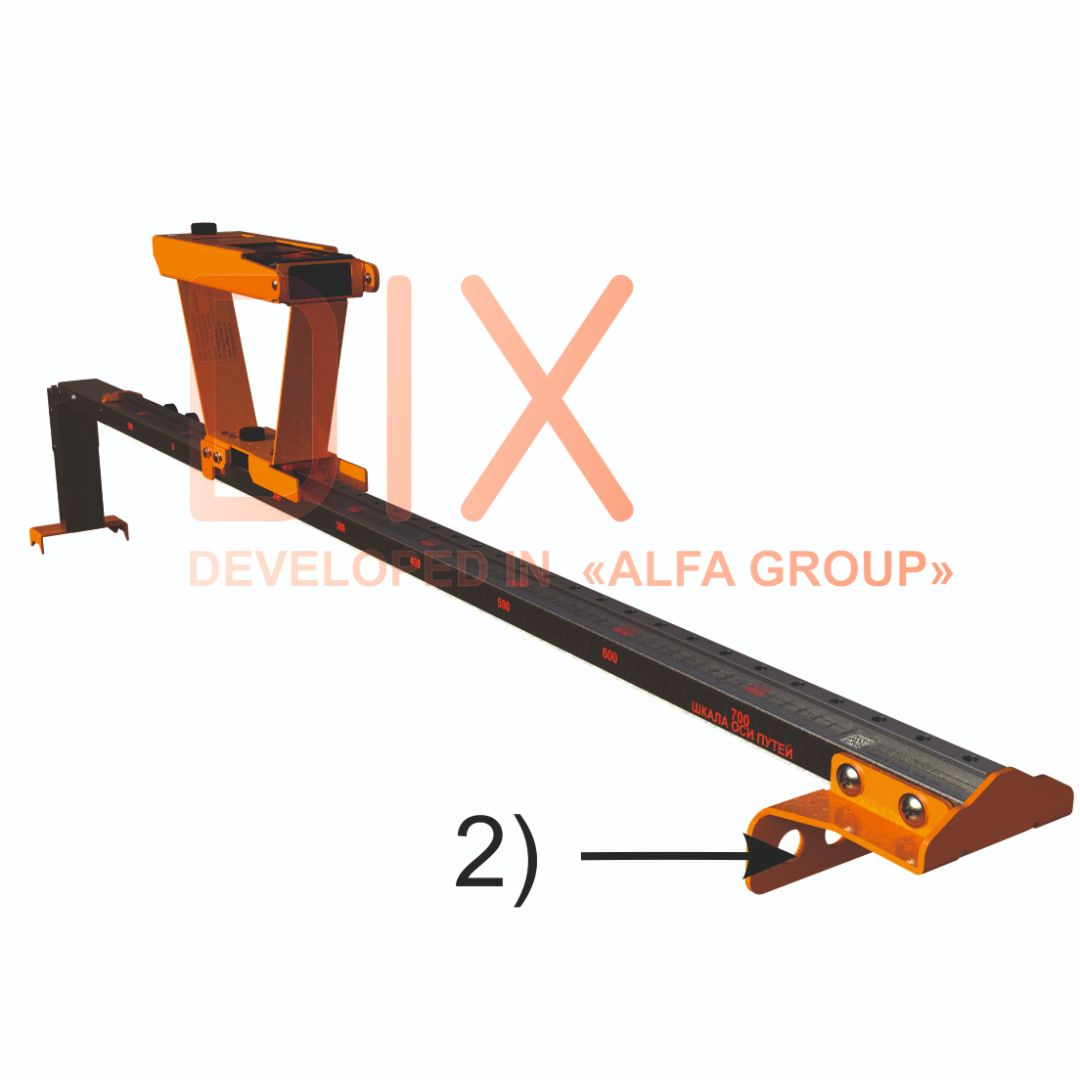 Replaceable DIX mount for work on tram types of rail