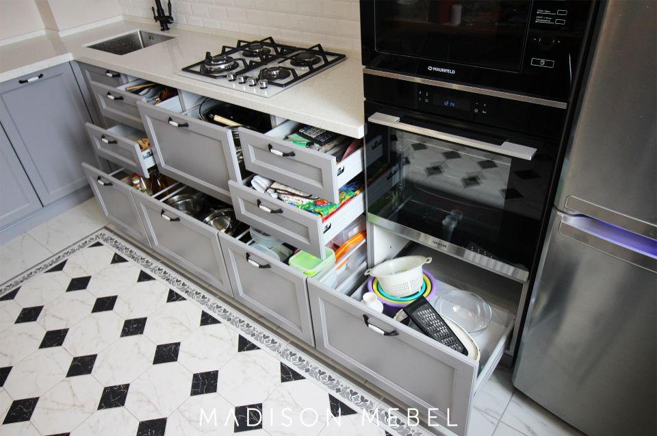 кухня с ящиками