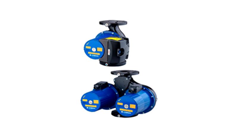 FLC, EFLC   Одиночные и сдвоенные циркуляционные насосы с мокрым ротором, постоянной или регулируемой частотой вращения, фланцевыми патрубками