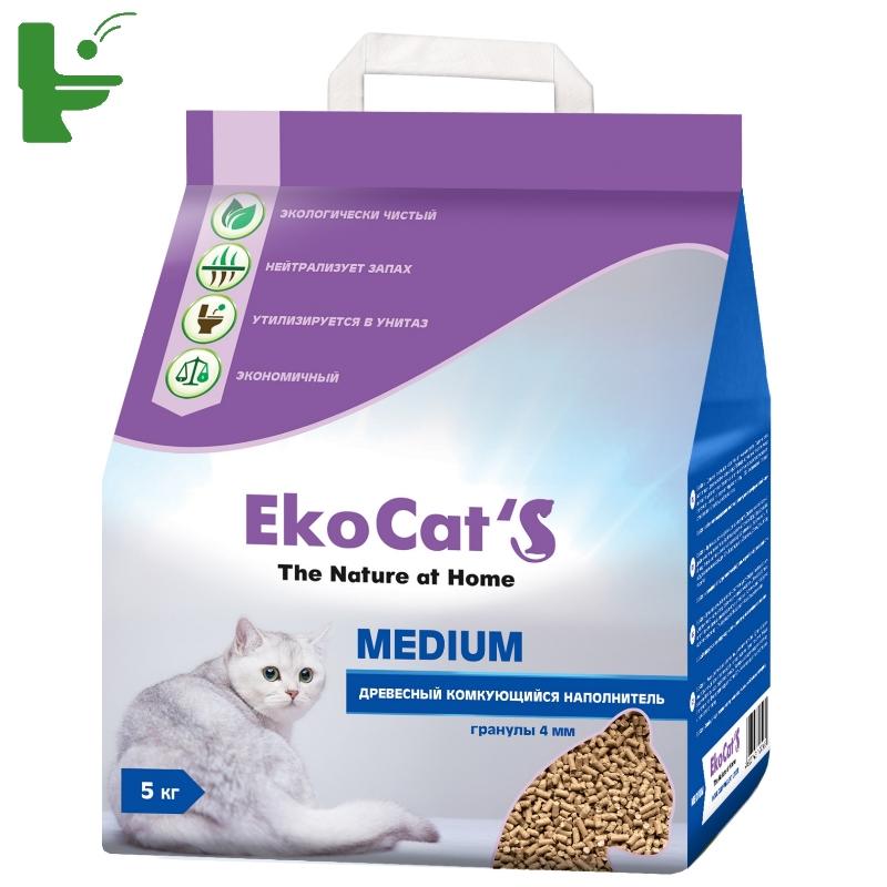 картинка Eko Cats Medium Древесный комкующийся наполнитель от магазина Одежда+