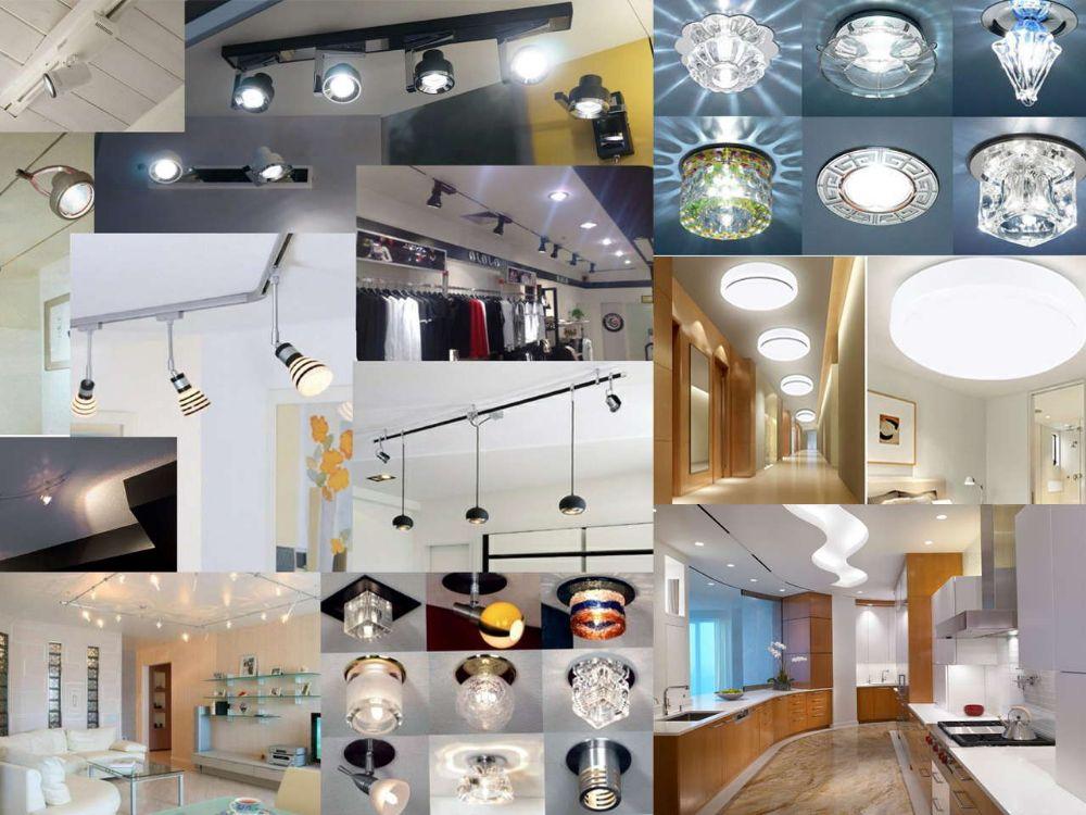 Светильники для монтажа натяжных потолков GX53 и MR16