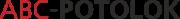 Логотип компании натяжные потолки в Санкт-Петербурге ABC-POTOLOK производство и установка в СПб и в Ленинградской области, оптом и в розницу, для физических и юридических лиц, оптом и в розницу, продажа с НДС