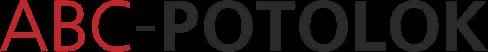 Логотип натяжные потолки в Санкт-Петербурге ABC-POTOLOK производство и установка в СПб и в Ленинградской области оптом и в розницу