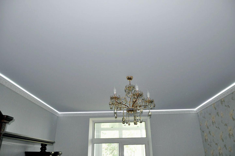 Клипсо белый стандартный тканевый натяжной бесшовный потолок экстра класса экологически чистый
