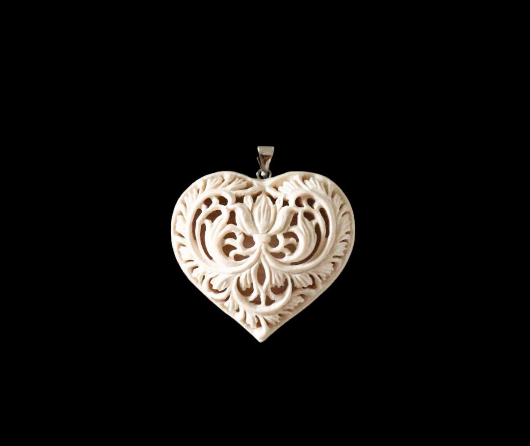 фото Сердце ажурное с цветком - Хотьковская фабрика резных изделий