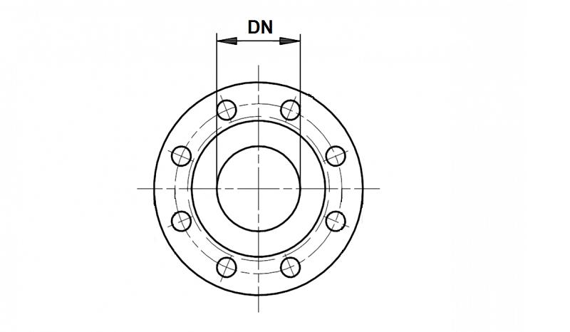 патрубок чугунный DN фланца