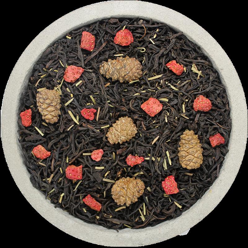 КЛУБНИКА с розмарином, чёрным чаем и шишками