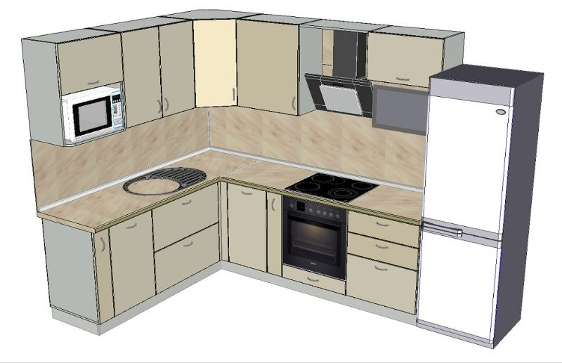 Кухня угловая Эскиз На заказ компания АСВ ПФ