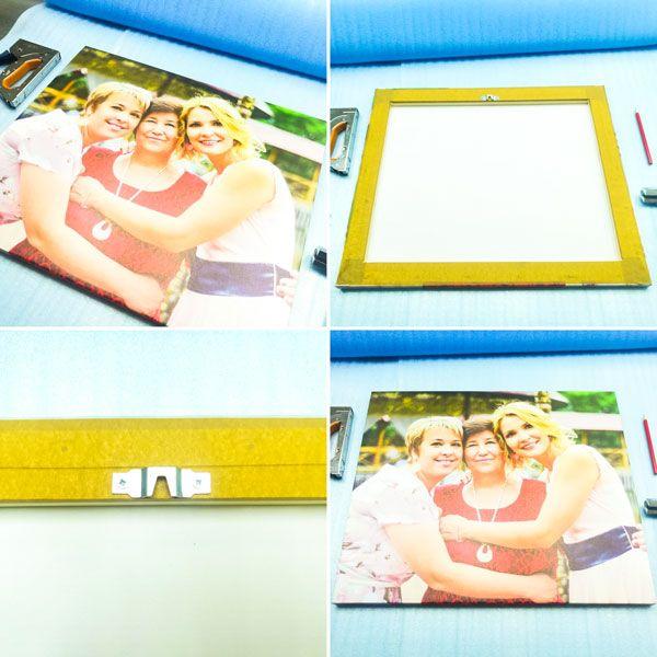 Картина на холсте 50*60 см. с семейным фото для частного клиента