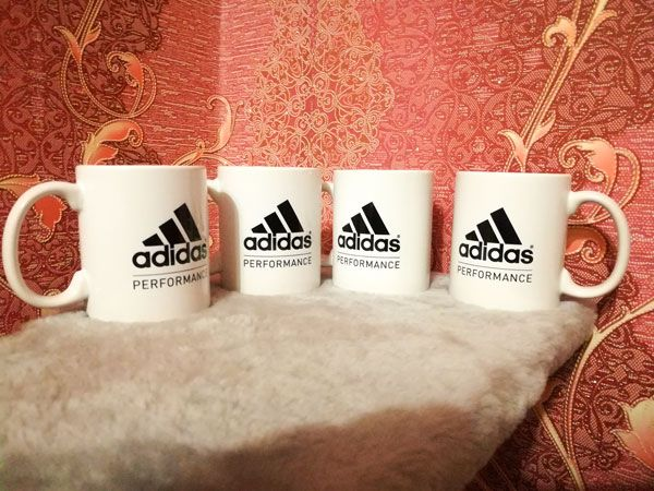 """Печать на кружках эмблемы """"Adidas"""" для частного клиента"""