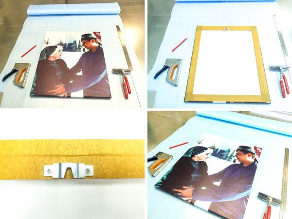 Картина на холсте 50*60 см. с фото  Ника́х (араб. النكاح — бракосочетание), джава́з, зава́дж для частного клиента