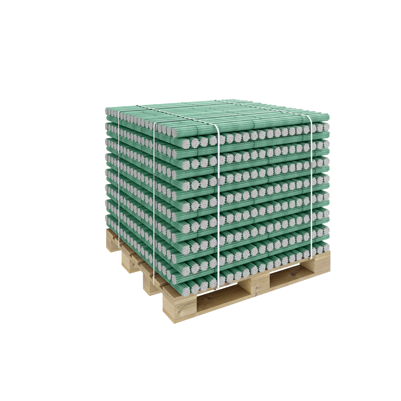 Стеклопластиковые опоры ПолиПласт в пачках на паллете (цветные)