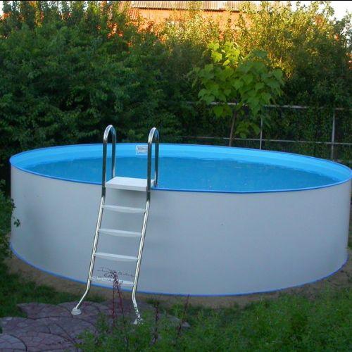 Сборный бассейн на поверхности земли