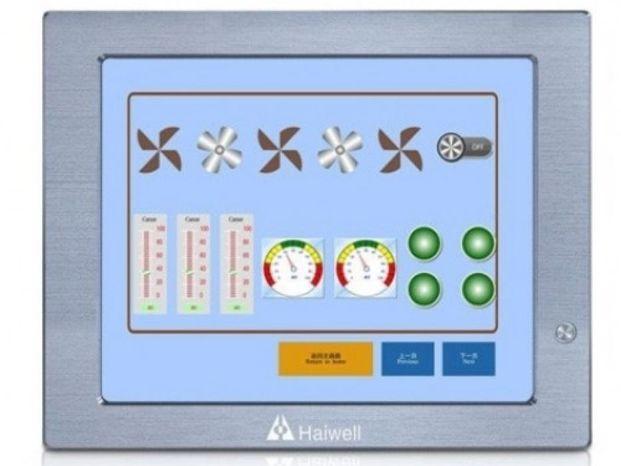 Панельный алюминиевый безвентиляторный компьютер HMI Q17 HAIWELL