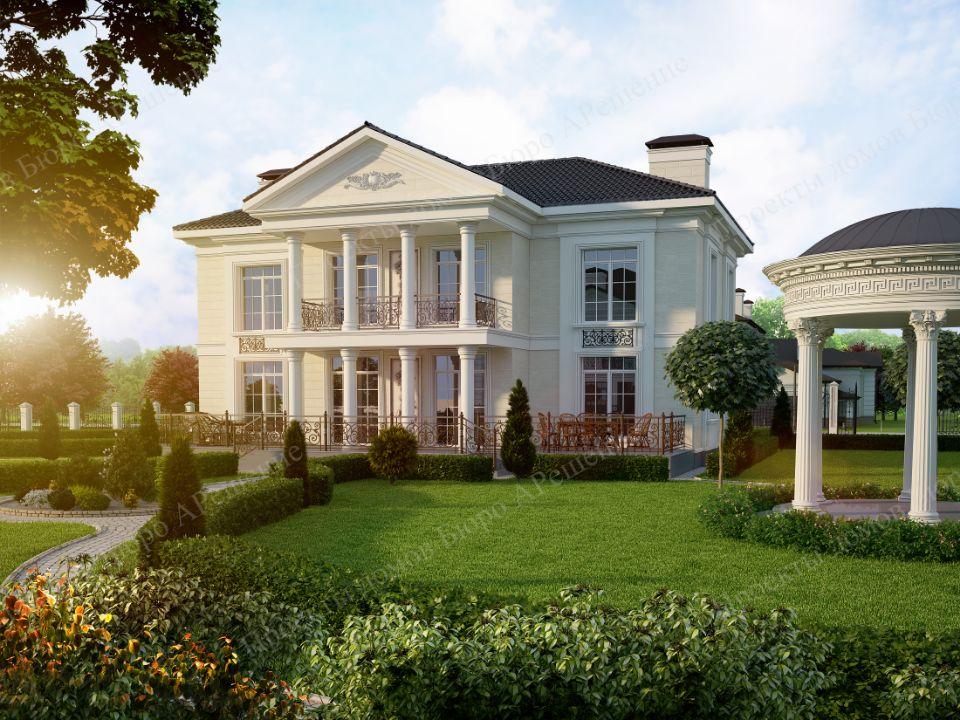 Пример 3d визуализации. Ее качество влияет на цену проекта дома