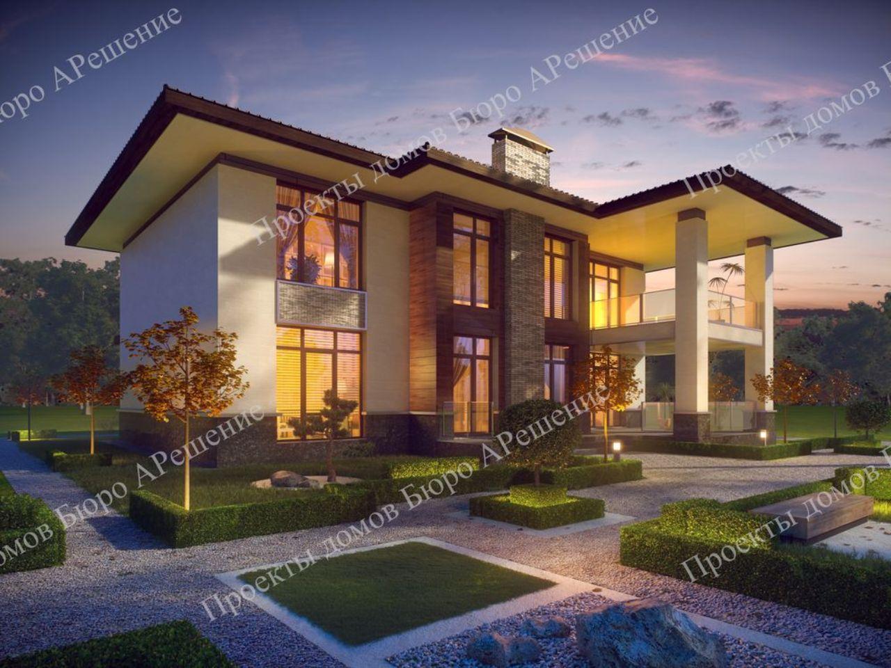 Проект дома из кирпича визуализация Римини