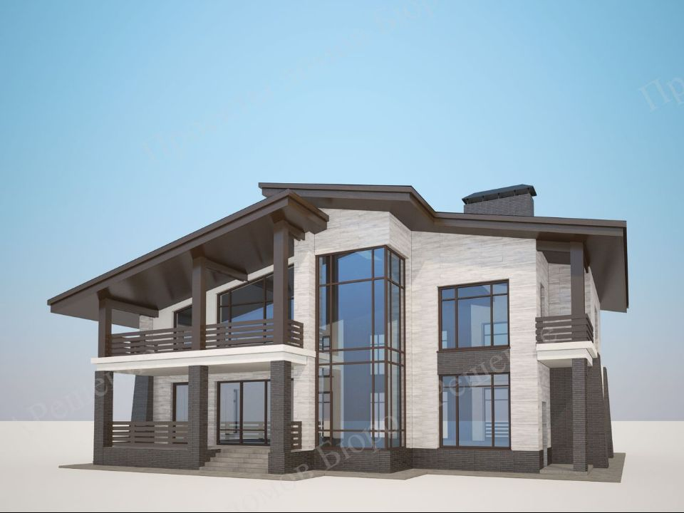 проект дома стиля Шале