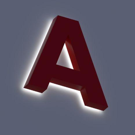 Объемные световые буквы с контражурной подсветкой