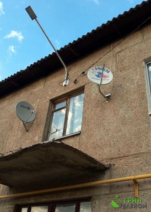 г. Магнитогорск, пос. Магнитный - Установка казахского спутникового телевидения.