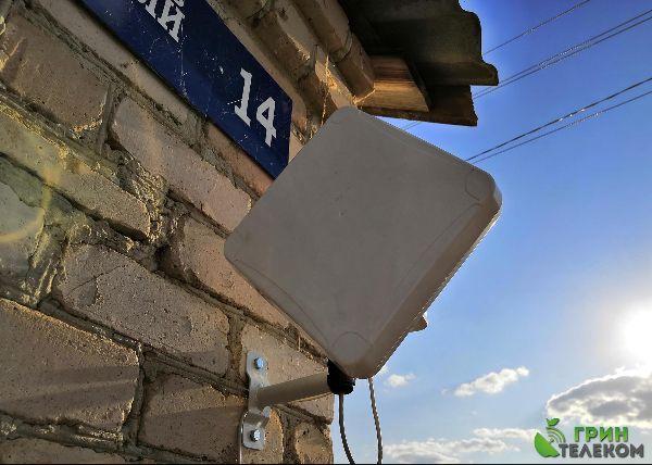 Челябинская обл., пос. Могутовский, Брединский р-н. - Установка широкополосной панельной антенны для приема 3G/4G сигнала.