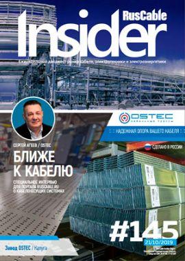 Журнал о кабельном бизнесе RusCable Insider Digest» Выпуск № 145 от 21 октября 2019 года