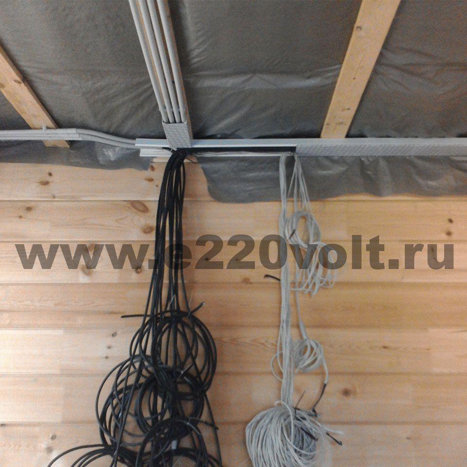 монтаж электропроводки в коттедже