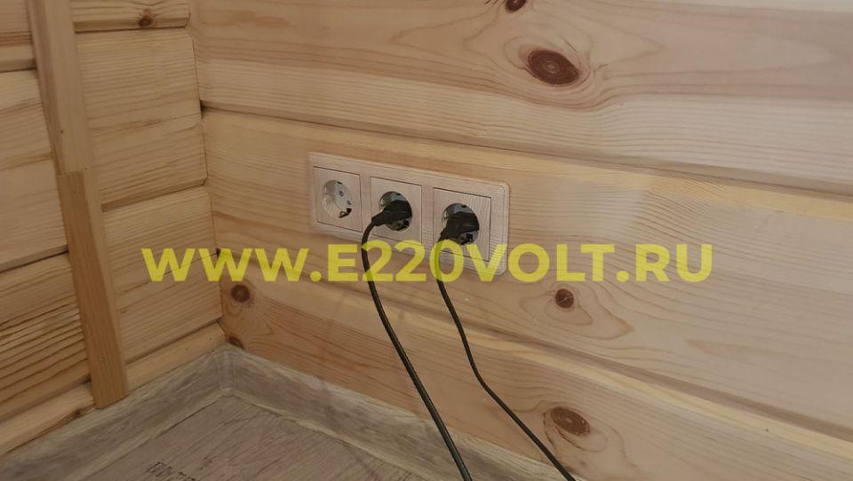 установка розеток и выключателей в частном доме