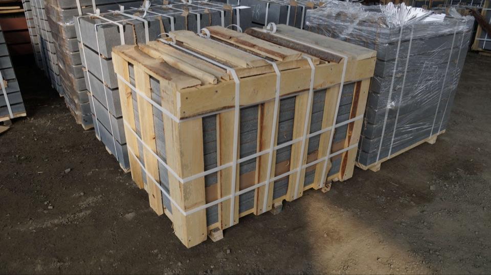 Упаковка плит Габбро диабаз, продажа и доставка изделий из камня