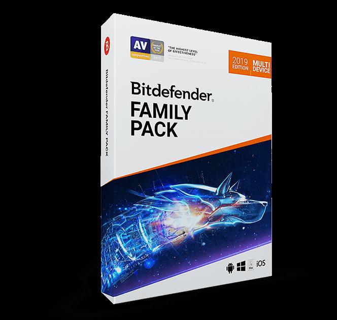 картинка Лицензия на 3 года на 15 девайсов - Bitdefender FAMILY PACK