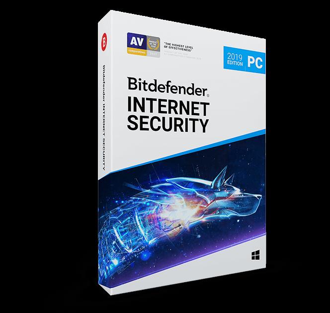 картинка Лицензия на 1 год на 5 ПК - Bitdefender Internet Security 2020