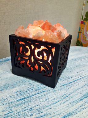 Соляная лампа камин