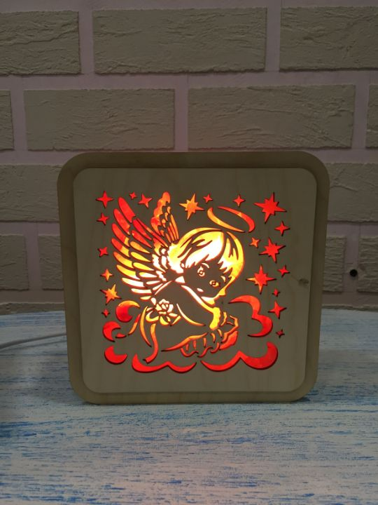 Соляная лампа ангел