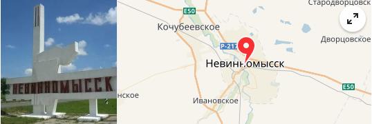 карта невинномысск