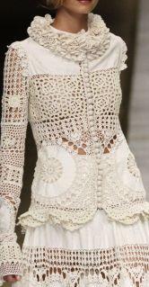 жакеты и платья, связанные крючком
