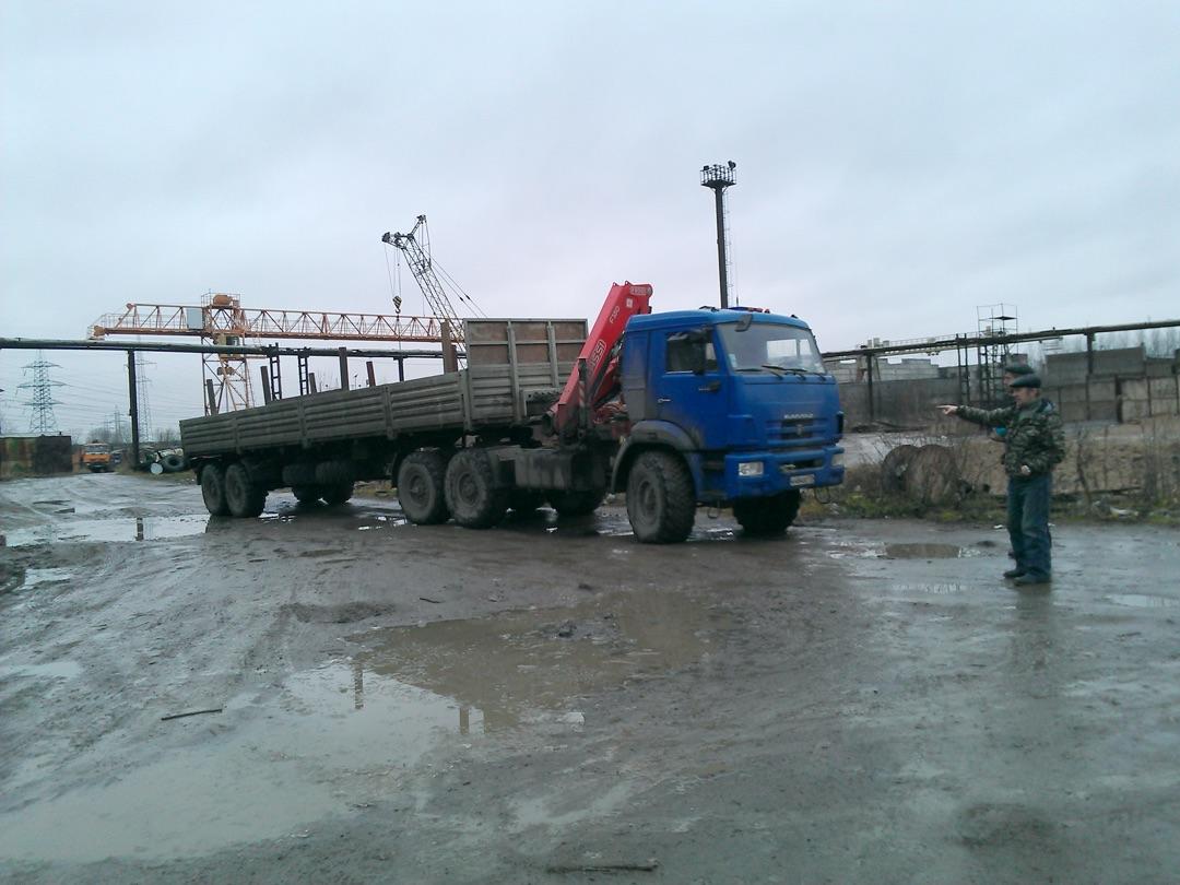 Шаланда вездеход с КМУ 6 тн.